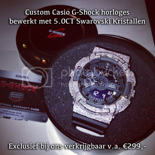 Custom Casio G-Shock Swarovski