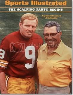 Sonny Jurgensen, Vince Lombardi, Sports Illustrated, 1969